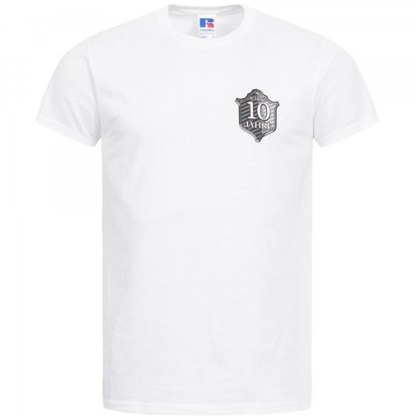 """T-Shirt """"10 Jahre """" weiß"""