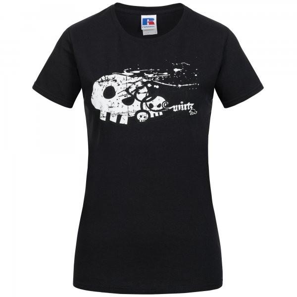 Girlie Shirt ''Skull'' schwarz